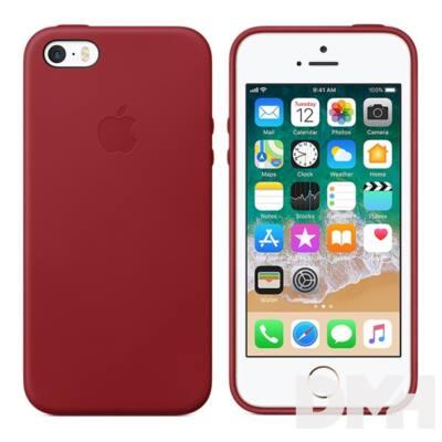 Apple iPhone SE bőrtok piros