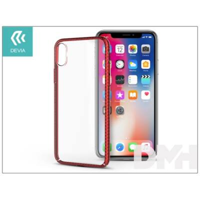 Devia ST306044 LUXURIOUS iPhone X piros hátlap