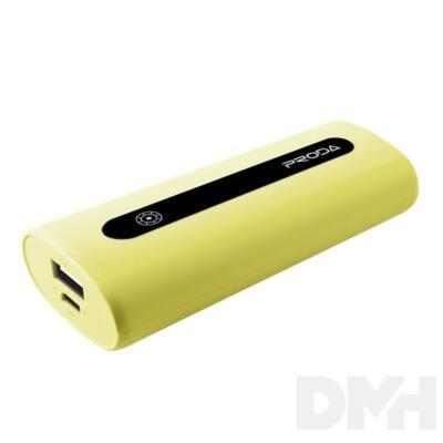 Proda E5 5000mAh sárga power bank