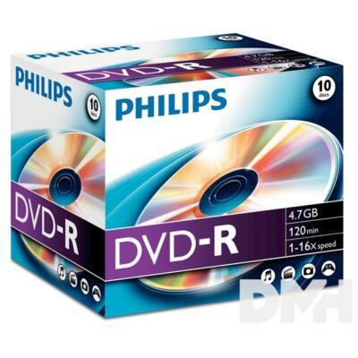 Philips DVD-R47 16x Slim gyártott írható DVD lemez