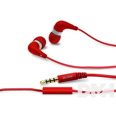 Acme HE15R Groovy piros mikrofonos fülhallgató