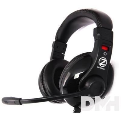 Zalman HPS200 Fekete Jack Gamer headset