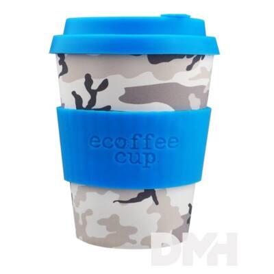 Ecoffee Cup Cacciatore 400ml hordozható szürke-fehér terepmintás kávéspohár