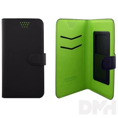 """Max Mobile 5,2""""-ig öntapadós univerzális fekete-zöld oldalra nyíló tok"""