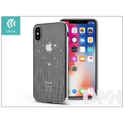 Devia ST305573 Crystal METEOR iPhone X ezüst hátlap