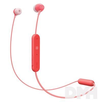 Sony WIC300R Bluetooth piros fülhallgató headset