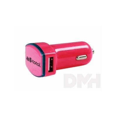 iTotal dupla USB-s 2.1 amperes világítós piros szivargyújtó töltő szivargyújtó töltő