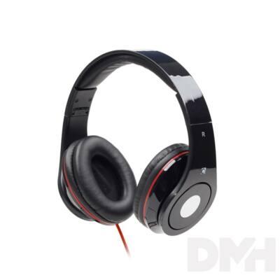 Gembird MHS-DTW-BK fekete headset