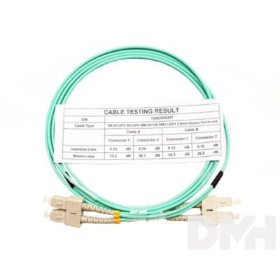 Optic 2m SC/UPC - SC/UPC MM 50/125 OM3 LSOH DLX optikai patch kábel