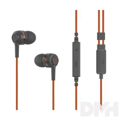 SoundMAGIC ES18S In-Ear szürke-narancs fülhallgató headset