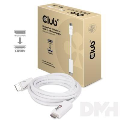 CLUB3D Displayport - HDMI 2.0 3m adapter kábel