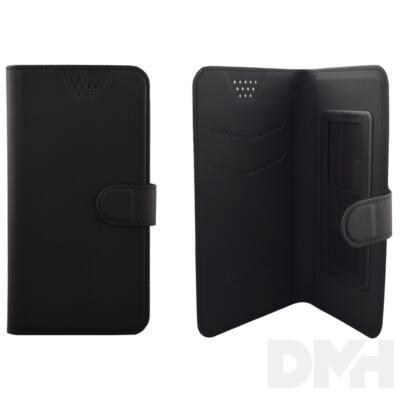 """Max Mobile 5,7""""-ig öntapadós univerzális fekete oldalra nyíló tok"""