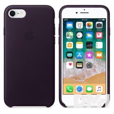 Apple iPhone 7/8 bőrtok mély padlizsán
