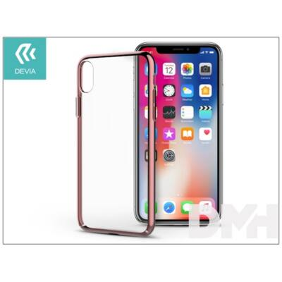 Devia ST300905 GLIMMER iPhone X rózsaarany hátlap