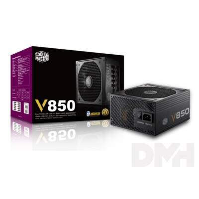 Cooler Master V850 Fully-Modular 850W PFC 12 cm ventilátorral dobozos tápegység