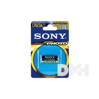 Sony 1db CR123A litium fotó elem