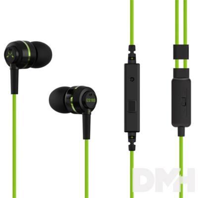 SoundMAGIC ES18S In-Ear fekete-zöld fülhallgató headset
