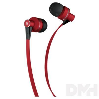 Sencor SEP 300 RED piros mikrofonos fülhallható