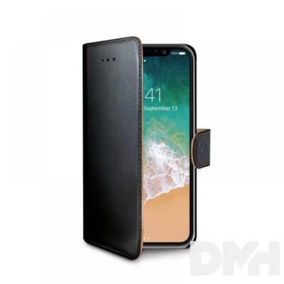 CELLY WALLY900 Celly iPhone X fekete oldalra nyíló műbőr tok