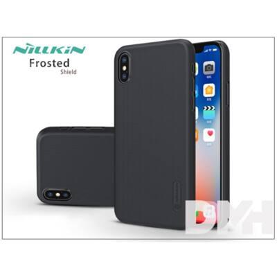Nillkin NL146242 FR iPhone X fekete hátlap képernyővédő fóliával
