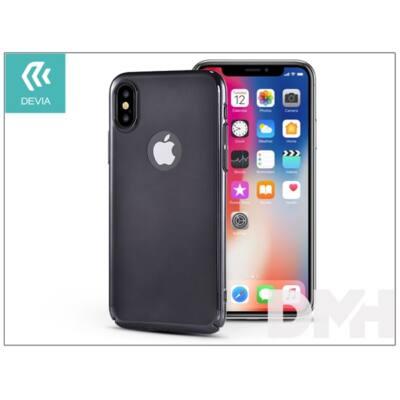 Devia ST307898 MIRROR iPhone X fekete hátlap