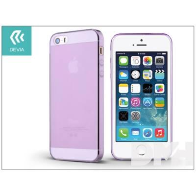 Devia ST983451 NAKED iPhone 5/5S/SE lila szilikon hátlap