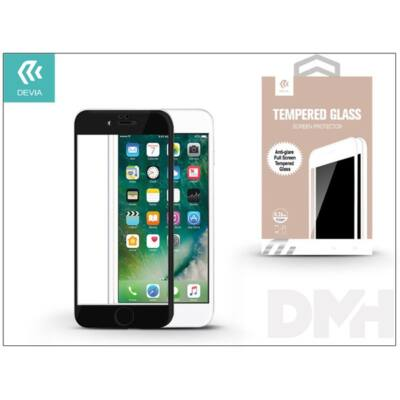 Devia ST993412 iPhone 7 fekete üveg fólia + Crystal hátlapvédő fólia