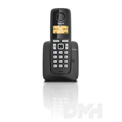 Gigaset A220A fekete üzenetrögzítős dect telefon