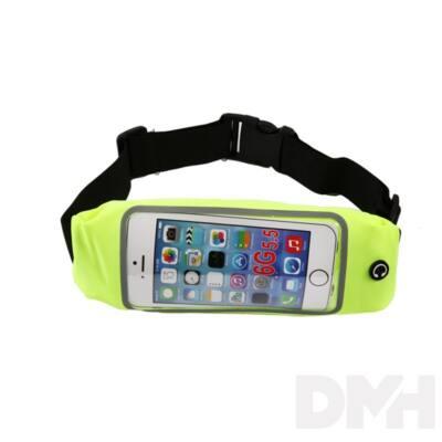 iTotal CM2916 zöld univerzális telefontartó sportöv telefontároló rekesszel