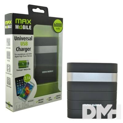 Max Mobile 6000mAh power bank