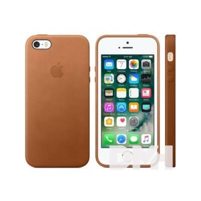 Apple iPhone SE bőrtok vörösesbarna