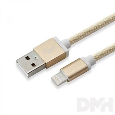 Sbox IPH7G USB-iPhone 7 Lightning 1,5m arany töltőkábel