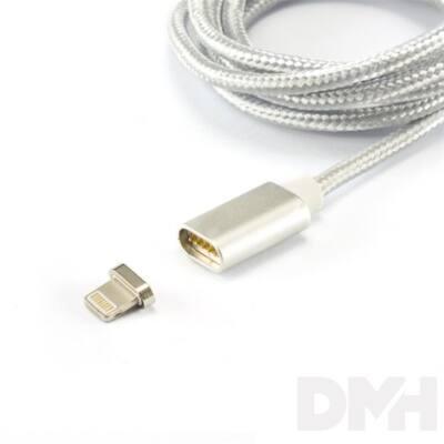 Sbox MAGNETIC-IPH 1m mágneses ezüst Lighting kábel