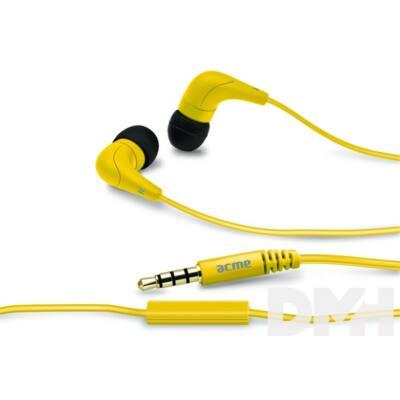 Acme HE15Y Groovy sárga mikrofonos fülhallgató