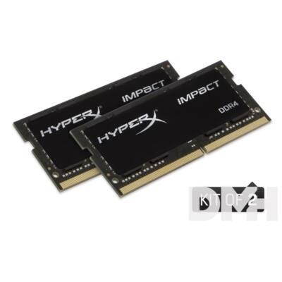 Kingston 8GB/2400MHz DDR-4 (Kit 2db 4GB) HyperX Impact (HX424S14IBK2/8) notebook memória