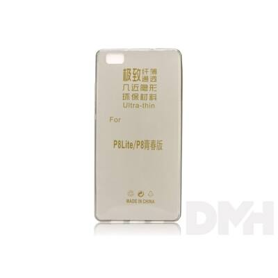 Haffner PT-2626 Huawei P8 Lite fekete ultra slim átlátszó hátlap