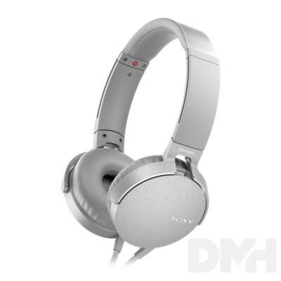SONY MDRXB550APW.CE7 extra bass fehér fejhallgató