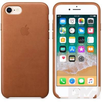 Apple iPhone 7/8 bőrtok vörösesbarna