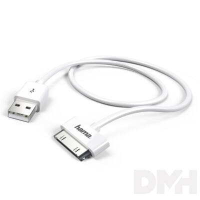 Hama 173642 iPhone/iPad/iPod 1,0m fehér USB adatkábel