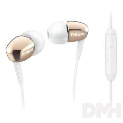 Philips SHE3905GD/00 arany mikrofonos fülhallgató