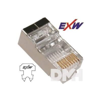 EXW CAT5E STP Modulár Dugó 8P8C RJ45 patch kábelekhez 20db
