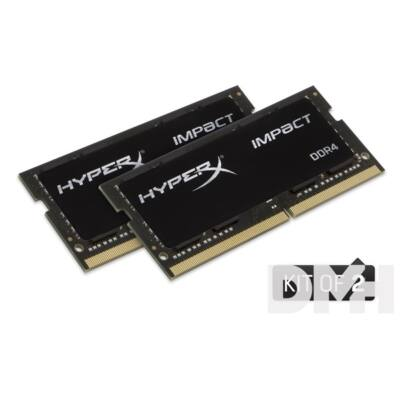 Kingston 32GB/2400MHz DDR-4 (Kit 2db 16GB) HyperX Impact (HX424S14IBK2/32) notebook memória