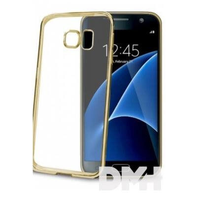 Celly BCLGS7GD Galaxy S7 arany bumper hátlap