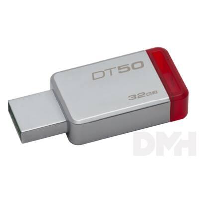 Kingston 32GB USB3.0 Ezüst-Piros (DT50/32GB) Flash Drive