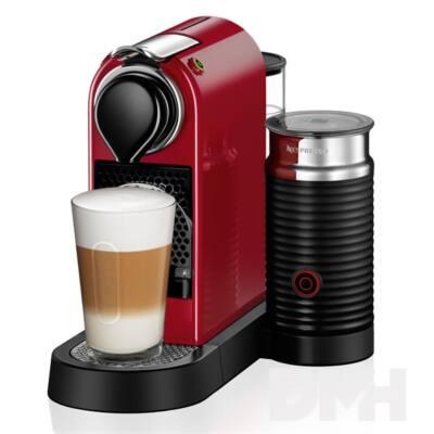 Krups XN7605CP Nespresso Citiz& Milk piros kapszulás kávéfőző