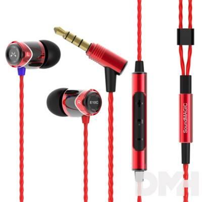 SoundMAGIC E10C In-Ear fekete-piros fülhallgató headset