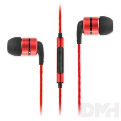 SoundMAGIC E80C In-Ear piros fülhallgató headset