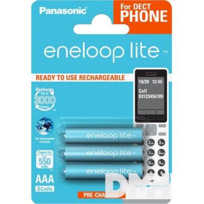 Panasonic Eneloop Phone AAA 550mAh mikro ceruza akkumulátor 3db/bliszter