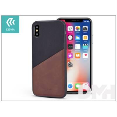 Devia ST305788 IWALLET iPhone X fekete hátlap