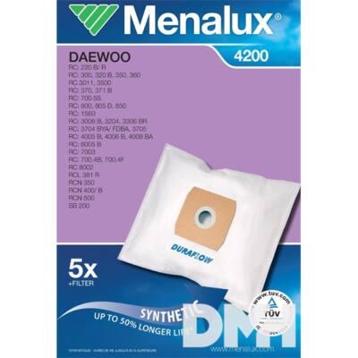 Menalux 4200 5 db szintetikus porzsák + 1 microfilter